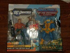 DC Universe Vs Masters Of The Universe Classics Aquaman vs Mer-Man NIB Sealed