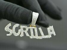 Lab Grown VVS Diamond Custom 6-7 Letter Name Letter Pendant 14k Yellow Gold Plat