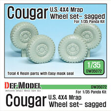 DEF.MODEL, U.S Cougar MRAP Sagged Wheel set (for Panda 1/35), DW35072