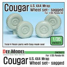 DEF.MODEL, U.S Cougar MRAP Sagged Wheel set (for Panda 1/35), DW35072