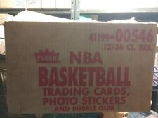 1986 Fleer NBA Basketball EMPTY Wax Box Case!! Pick up only in Philadelphia