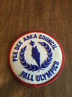 Boy Scout Patch Pee Dee Area Council Fall Olympics 3 Inch Round
