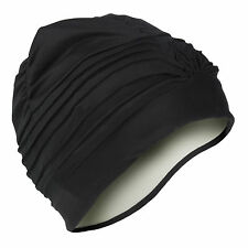 Swimming Hat/Cap/Turban for Ladies Women Adults Black Bathing Cap Beautiful Hat