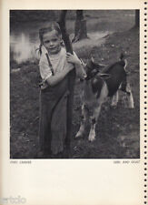 Photogravure  - 1935 - Fred Chafee - Girl and Goat