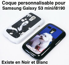 SAMSUNG GALAXY S3 MINI i8190 COQUE ETUI BLANCHE PERSONNALISABLE PHOTO TEXTE LOGO