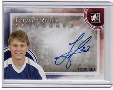 TODD GILL 11/12 ITG Forever Rivals Auto Autograph A-TG Blue Maple Leafs