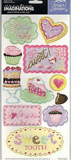 SWEET SHOP (11) Chipboard Sticker Shapes scrapbooking CAKE PIE CUPCAKES