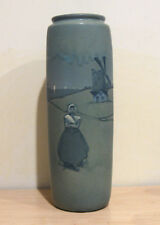 "Weller 14"" Vase with Dutch Scenes and Windmills"