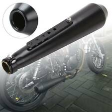 38-45 mm Motorcycle Exhaust Pipe Removable Silencer Megaphone Carbon Black
