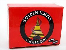1 Karton = 100 Räuchertabletten 33mm Räucherkohle Kohle Golden Temple Charcoal