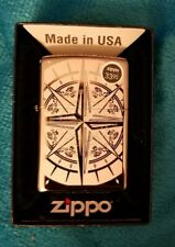 Zippo Windproof Black Ice Lighter With Compass, 29232, New In Box