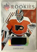 2018-19 Carter Hart Ultimate Collection Jerseys Flyers #95 Ultimate Rookies /399