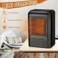 500W Mini Ceramic Space Heater Heating Fan Fast Warmer Home Office Safety
