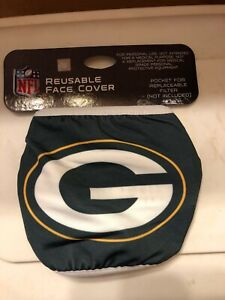 Green Bay Packers Logo Licensed Face Mask Comfortable, Washable, Reusable