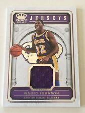 NBA Basketball - MAGIC JOHNSON - Panini Crown Royale Jersey Card 34/99