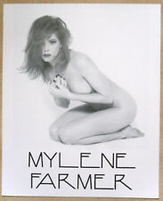 MYLENE FARMER mini-poster cartonné TRES BON ETAT