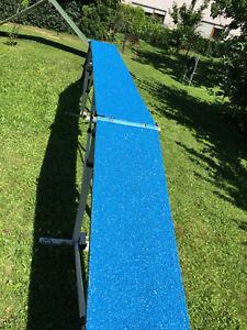 Gummigranulat-beschichtung blau für Agility-sportgeräte Laufsteg Wippe 0,6-0,7m²