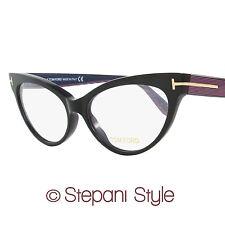 Tom Ford Cateye Eyeglasses TF5317 005 Size: 54mm Black/Iridescent Chalkstripe FT
