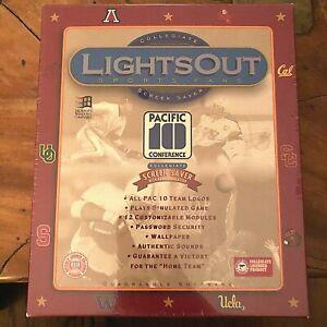 1994 Lights Out Sports Fans Collegiate PAC 10 Screensaver~Quadrangle~SEALED NIB