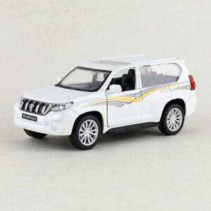 1:42 Toyota Land Cruiser Prado SUV Model Car Diecast Gift Toy Vehicle White Kids
