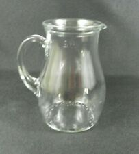"""New listing Bormioli Rocco Small Pitcher Made in Italy Clear Glass 0.5 L5.5"""" H"""