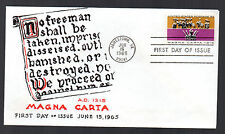 1265 -- Magna Carta -- First Day cover with Virgil Crow cachet