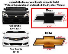 Front Grille BowTie Emblem Black Fits Chevrolet Impala & Monte Carlo 2006-2016