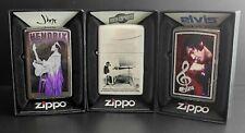 Zippo Lighter 3er Set: MUSIC (Jimi Hendrix, John Lennon, Elvis Presley)