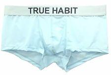 $95 TRUE HABIT Men MICROFIBER SPANDEX UNDERWEAR BLUE BOXER BRIEF TRUNK medium