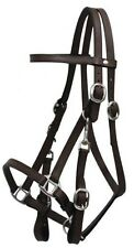 DARK BROWN Leather Combination Halter Bridle w/ 7' Split Reins!! NEW HORSE TACK!