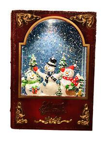 Gun Lake Casino Spinning Water Musical Book Mom Dad & Me Snowman Scene