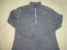 Womens NIKE RUNNING Pullover Jacket,Large,Gray,1/4 Zip,100% Poly,Active,Sport
