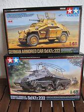 Zwei Panzerspähwagen Sd.Kfz 222 + Sd.Kfz 232 von Tamiya im Maßstab 1:48 *NEU*