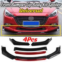 4x Front Bumper Lip Body Kit Splitter Spoiler For Subaru WRX Impreza BRZ Legacy
