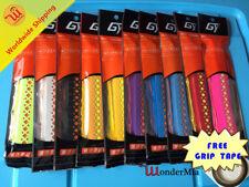 NEW 4pcs Antislip Absorbing Tennis Badminton Grip [DUAL COLOR] +Tape (10 COLOR)