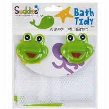 1 X Childrens Bath Tidy Net Organiser Storage Suction Cups Toy Frog or Duck