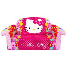 Marshmallow Furniture Children's 2 in 1 Flip Open Foam Kids Sofa, Hello Kitty
