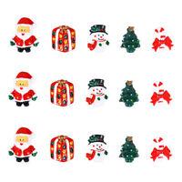 15pcs Mini Christmas Resin Snowman Santa Claus Christmas Tree Hanging Ornaments