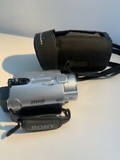 SONY DCR-SR200 HANDYCAM HDD VIDEO RECORDER CAMCORDER and case TESTED
