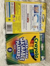 Two Packs Crayola Ultra Washable Broad Point Classic Colors 8/Pack Cyo587808)