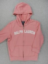 Polo Jeans Ralph Lauren Cotton Stitched Hoodie Jacket (Girls Youth Medium) Pink