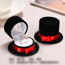 Velvet Flower/Fruit Ring Stud Earrings Box Jewelry Display Storage Case Jewelry