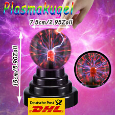 Retro Plasmaball Party Deko Lichteffekt Plasma Blitze Lampe Leuchte Plasmakugel
