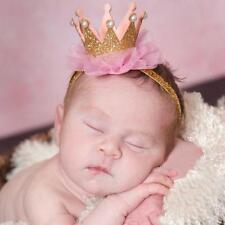 2016 Niña Bebé Chic CORONA Encaje Cabeza Accessorios Diadema Elástico Flor
