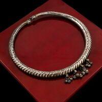Antique Vintage Art Deco Sterling Silver Southeast Asia Elephant Collar Necklace