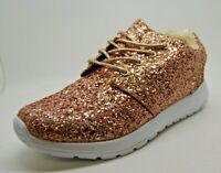 NEW LADIES GIRLS LEMONADE BRONZE GLITTER TRAINERS SHOES CASUAL SPARKLY SZ 7 / 40