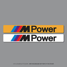 SKU2534 - BMW M Power Number Plate Dealer Logo Cover Stickers - 140mm x 18mm