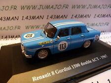Voiture 1/43 Eligor/ UH Hachettes : RENAULT sport : R 8 gordini 1500 double ACT