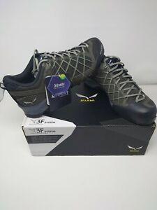 Salewa Men's Ms Wildfire GTX Low Rise Hiking Shoes Uk 10 black olive/siberia NEW
