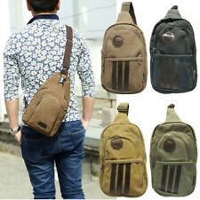 Mens Womens Small Sling Chest Bag Travel Backpack Hiking Bicycle